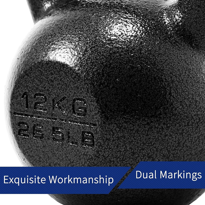 entrenamiento de fitness 4KG Kettlebell bola hervidor ABS hierro fundido mancuerna para entrenamiento de fuerza
