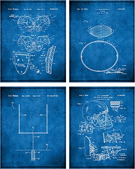 Print gift Quote Football definition gifts posters decor wall art