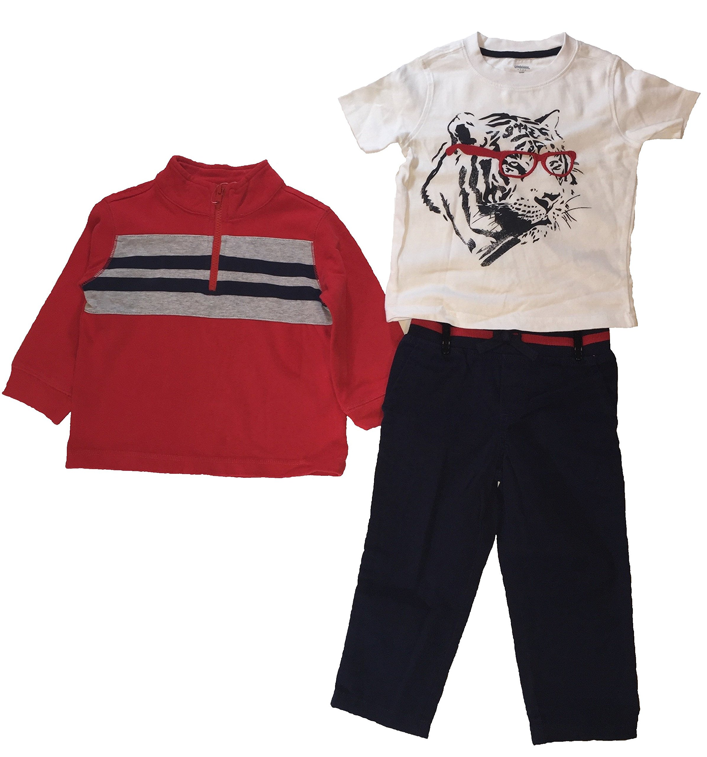 Gymboree Red and White 3 piece set for boys (4T)