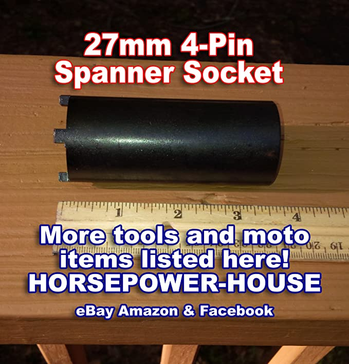Amazon.com: 27mm (37mm OD) Special Clutch Lock Nut Remover Tool 4-Pin Spanner Socket Tool to Remove Your Small Locknut Castle Nut Has Many Uses on Many ...
