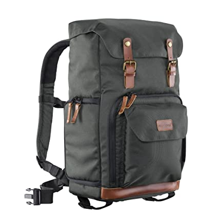 5bbb78f0e539 Mantona Luis retro-look camera backpack with genuine  Amazon.co.uk  Camera    Photo