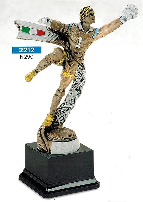 Trofeo fútbol portero con balón - H cm 29 - Manivela - Made in ...