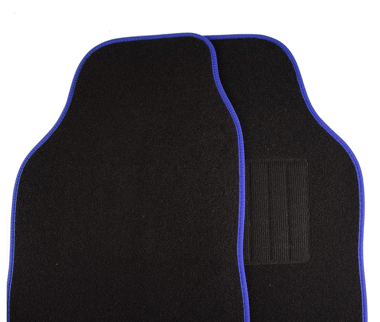 Safe Travel 27500 Universal Car Mats Right Hand Drive Carpet Heel Black Binding RHD