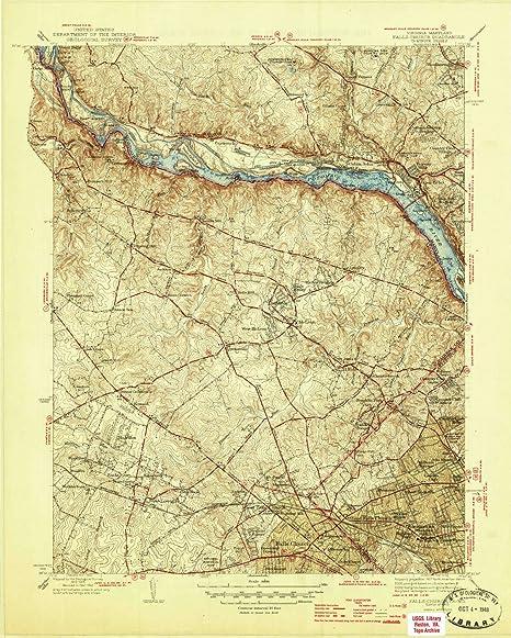 Falls Church Virginia Map.Amazon Com Yellowmaps Falls Church Va Topo Map 1 31680 Scale 7 5