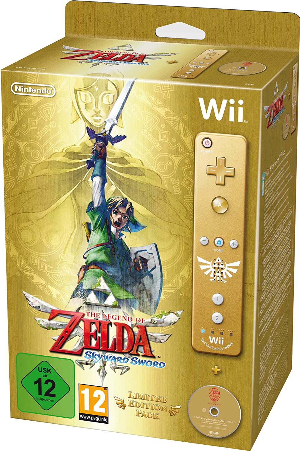The Legend of Zelda: Skyward Sword - Limited Edition Gold Wii Remote  Bundle: Amazon.co.uk: PC & Video Games