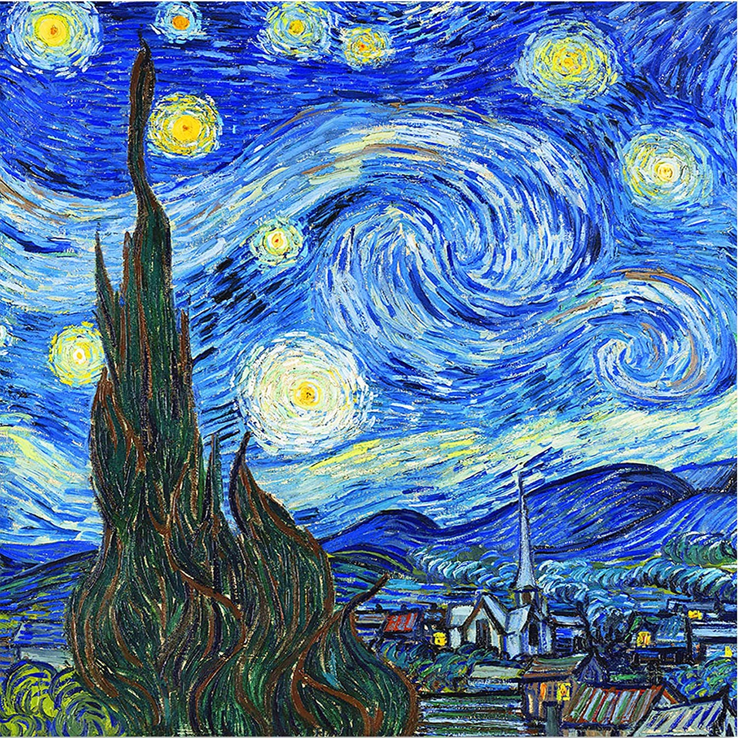 Creative Diamond Painting Kits for Adults, 5D Crystal Diamonds Art with Accessories Tools, Starry Night Picture DIY Art Dotz Craft for Home Décor, Ideal Gift or Self Painting