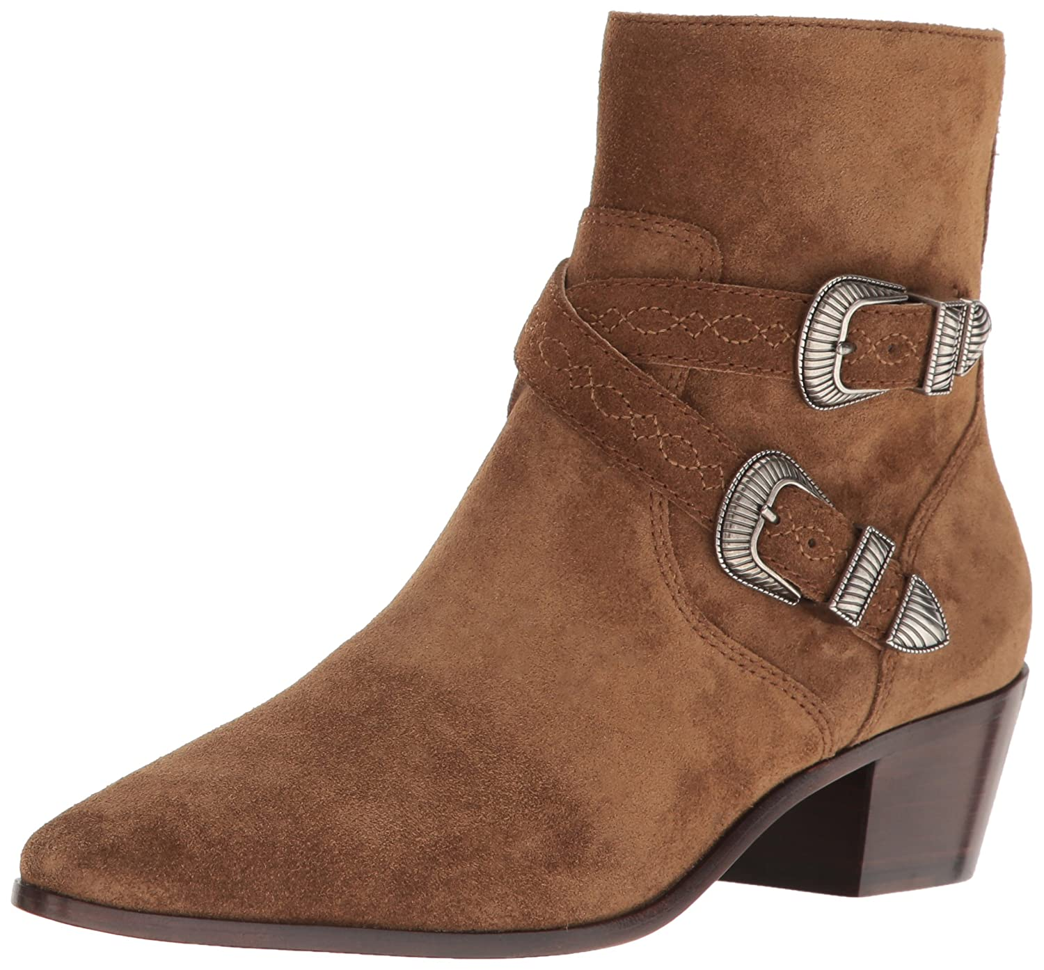 Chestnut Frye Womens Ellen Buckle Short Western Boot