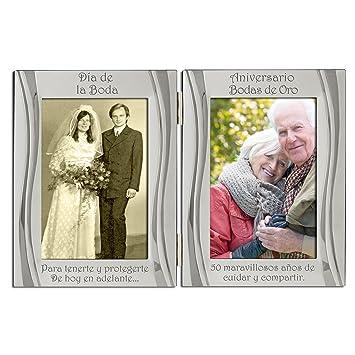 50 Aniversario bodas de Oro del 50 aniversario, chapada en plata ...