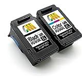 CMCMCM Rigenerate Canon 545 546 PG-545XL CL-546XL Cartucce d'inchiostro Compatibili per Pixma MG2550S MG2950 MG2450 MG3050 MG3051 MX495 IP2850 MG3052 MG3053 MG2900 Stampante, Nero & Tri-colore