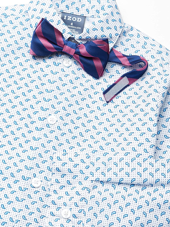 Izod Boys 4-Piece Vest Set with Dress Shirt Bow Tie and Vest Pants