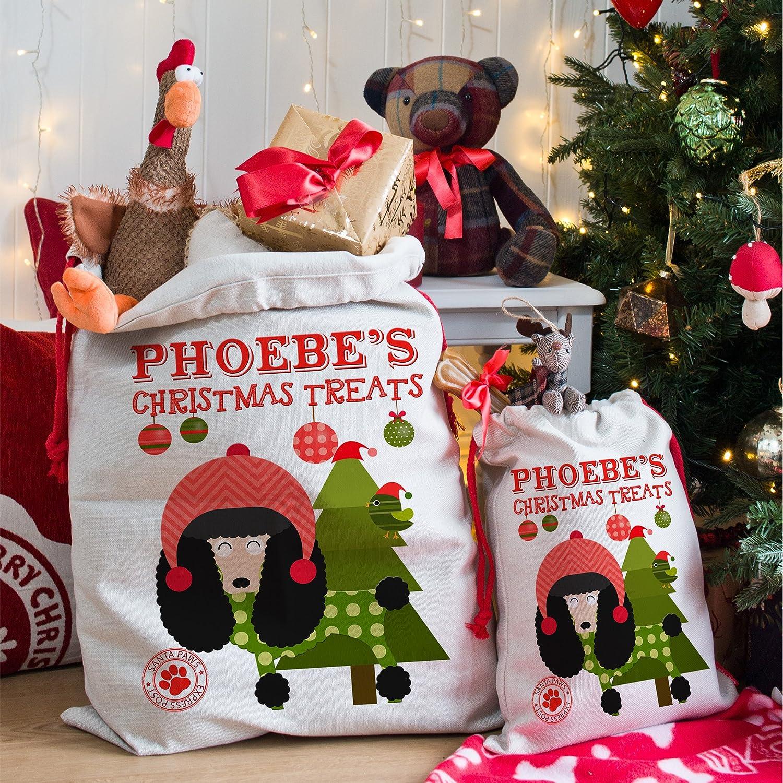 KRAFTYGIFTS Personalised Black Poodle Dog Puppy Christmas Treats
