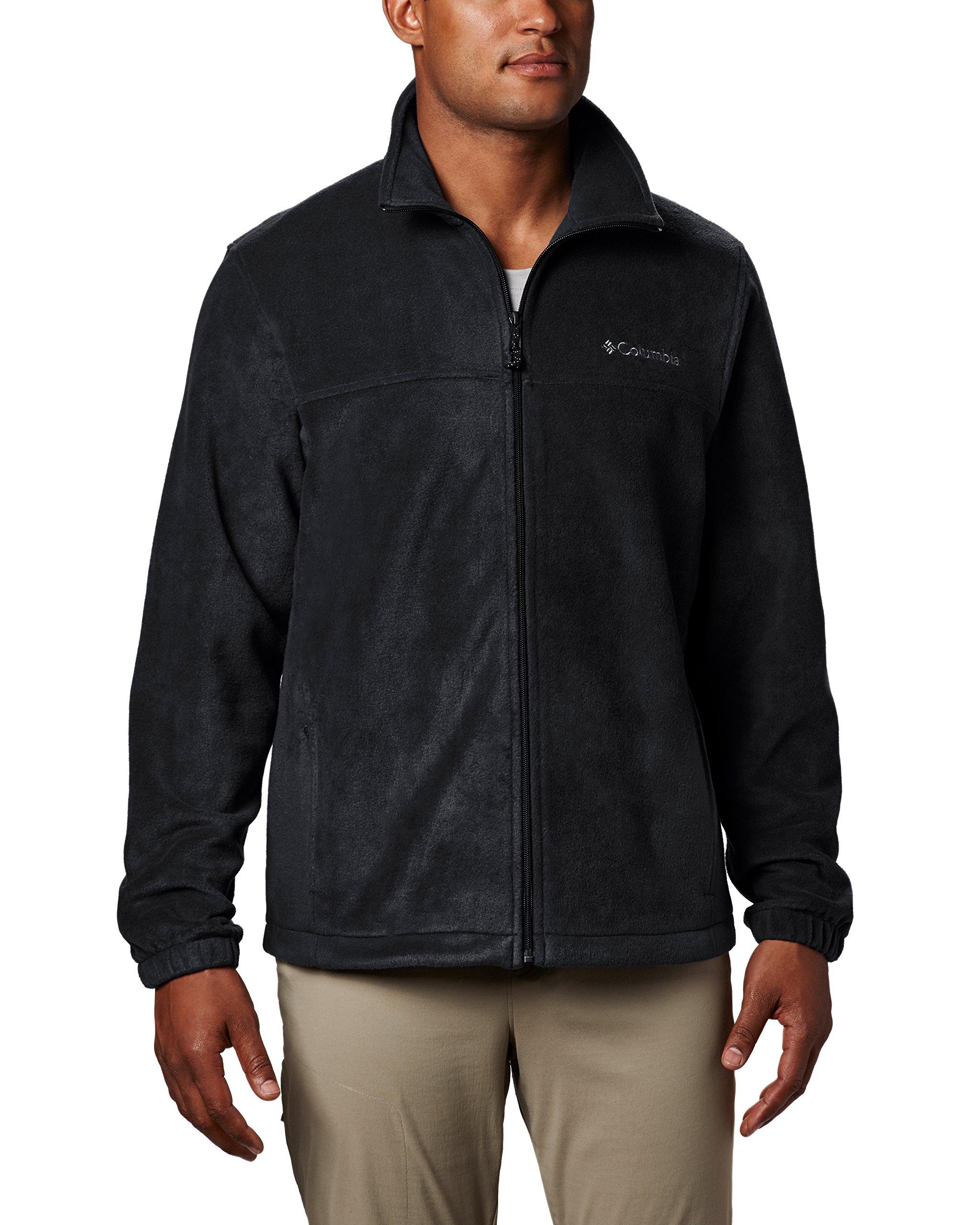 Columbia Men's Steens Mountain Full Zip 2.0 Soft Fleece Jacket, Black, Medium