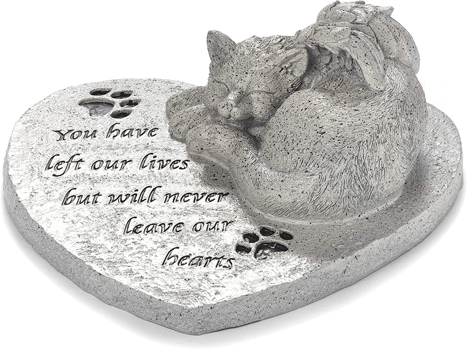 Pet Memorial Garden Stone for The Family Cat - Outdoor Remembrance Accent