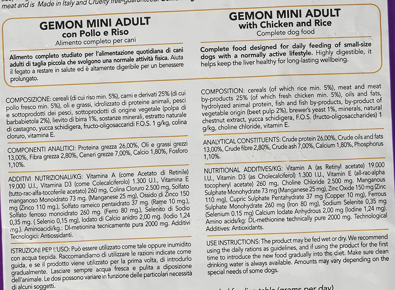 Monge Gemon Adult Mini Pollo/arroz kg 1