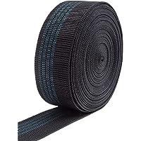 IPEA Elastische riem voor bank, stoel, kussen, lengte 10 meter, spanband voor zitting, rugleuning, zwart, 50 mm…