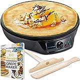 """Crepe Maker Machine (Lifetime Warranty), Pancake Griddle – Nonstick 12"""" Electric Griddle – Pancake Maker, Batter…"""