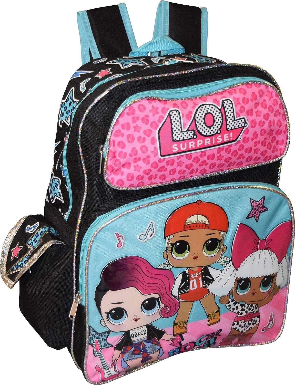 L.O.L Surprise! 16' Backpack School Bag Bookbag (Pink) (3D Glossy)