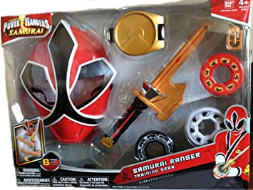 Power Ranger Samurai Samurai Ranger Training Gear Toy Figures at amazon