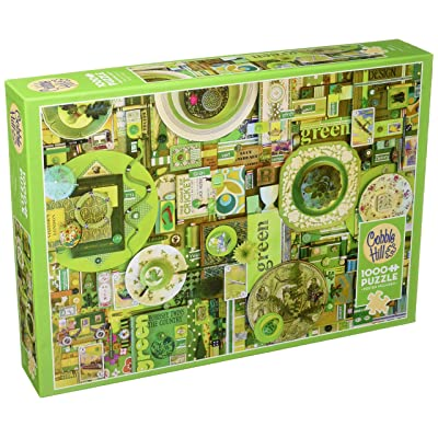 "Outset Media Jigsaw Puzzle 1000 Pieces 26.625""X19.25"" Rainbow Project - Green: Toys & Games"