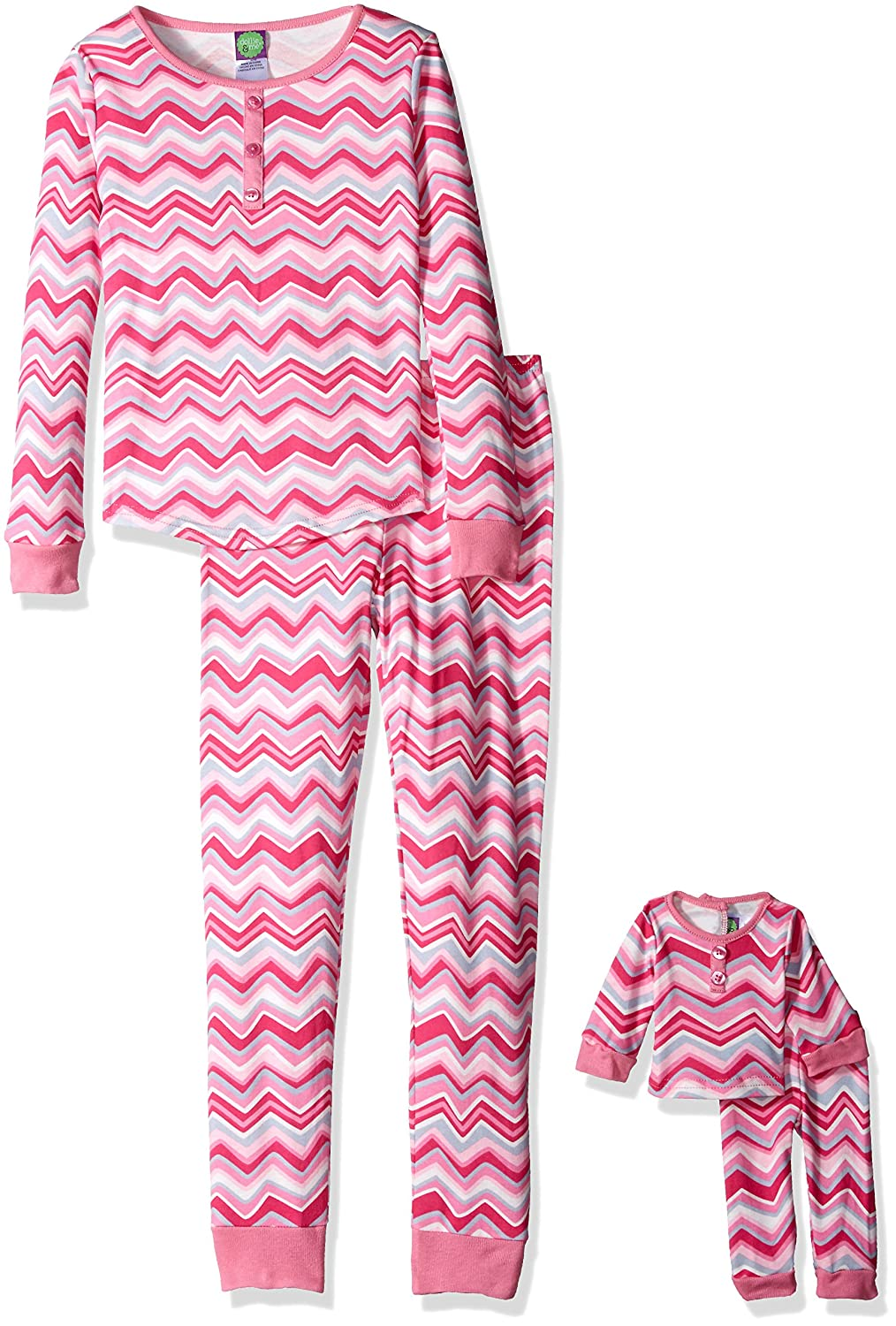 Dollie /& Me Girls Sporty Floral Sleepwear Set