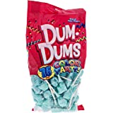 Light Blue Dum Dums Color Party - Blue Raspberry Flavored - 75 Count Bag - 12.8 ounces - Includes Free How To Build a Candy Buffet Guide