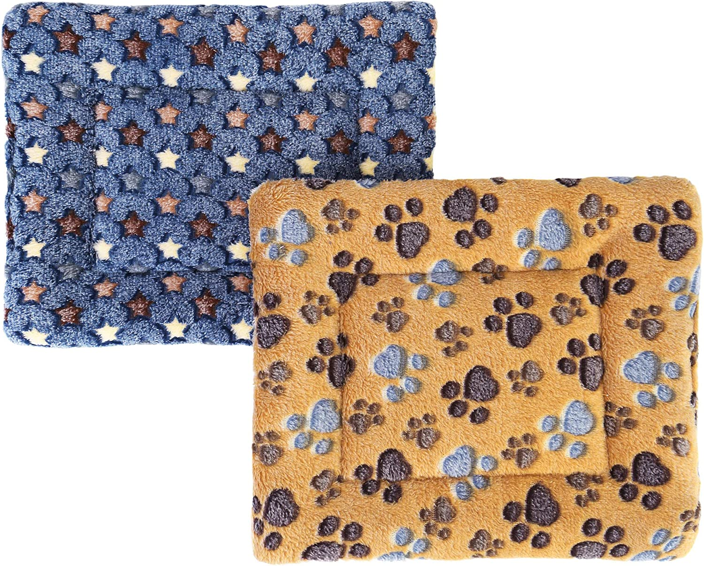 Warm Sleep Mat Pads for Guinea Pig Hamster Squirrel Hedgehog Rabbit Chinchilla Mogoko 2Pcs Fleece Small Animal Beds