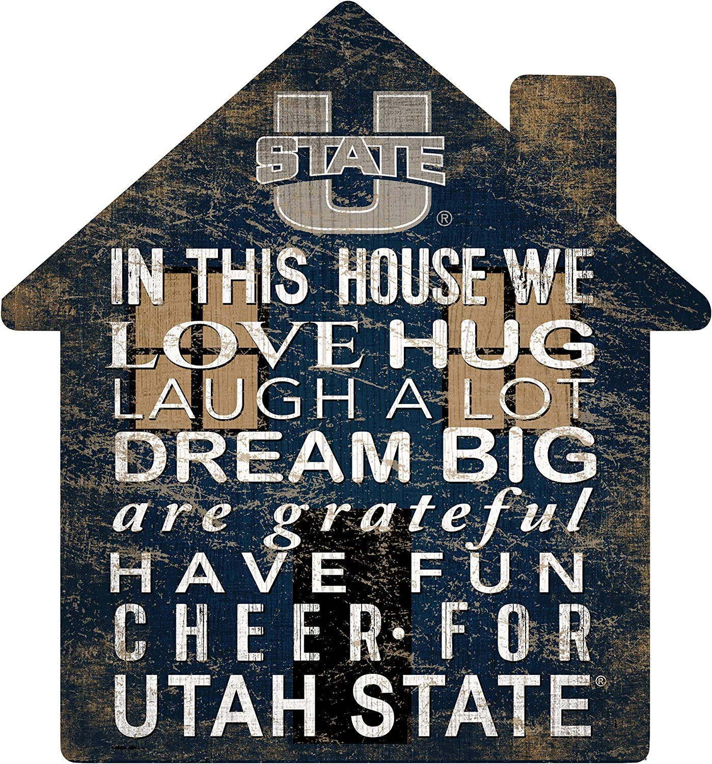 Fan Creations NCAA Utah State Aggies Unisex Utah State House Sign 12 inch Team Color