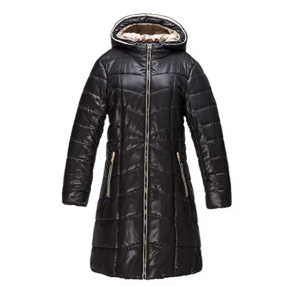 CherryTop Women's Puffer Mid Length Winter Quilted Coat with ... : winter quilted coats - Adamdwight.com