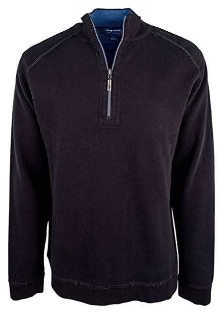 Tommy Bahama Mens Reversible Flip Side Classic 1/2 Zip Pullover