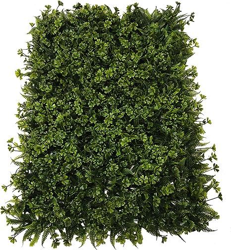 SZ Plancha Alfombra de Césped Artificial 60 * 40cm Jardín Vertical Decoración Interior Pared Hierba (Treboles): Amazon.es: Hogar
