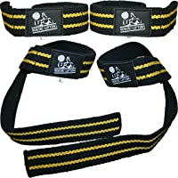 Lifting Straps (2 Pairs/4 Straps) for Weightlifting/Cross Training/Workout/Gym/Powerlifting/Bodybuilding-Support For…