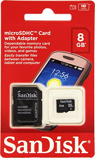 SanDisk Mobile Class4 MicroSDHC Flash Memory Card- SDSDQM-B35A with Adapter 16GB