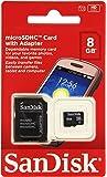 SanDisk Scheda di Memoria MicroSDHC 8 GB Classe 4 con Adattatore SD