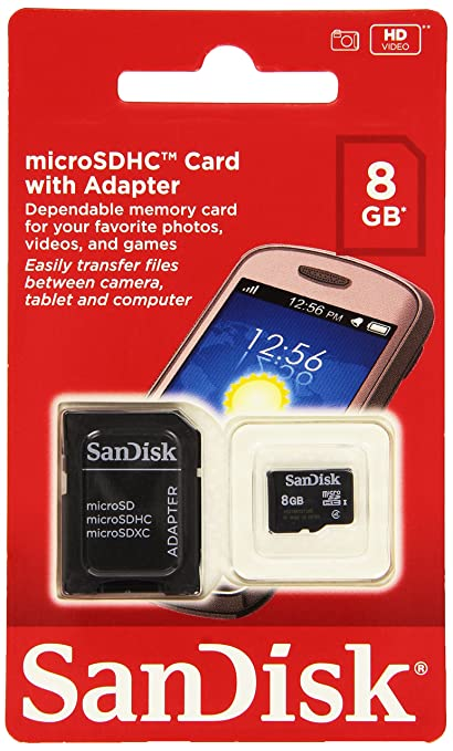 96813de1068 SanDisk 8GB Mobile MicroSDHC Class 4 Flash Memory Card With Adapter- SDSDQM -008G-