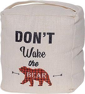 Don't Wake The Bear Door Stop - Cute Animal Door Stopper Home Decor - Decorative Door Stops for Bear Lover