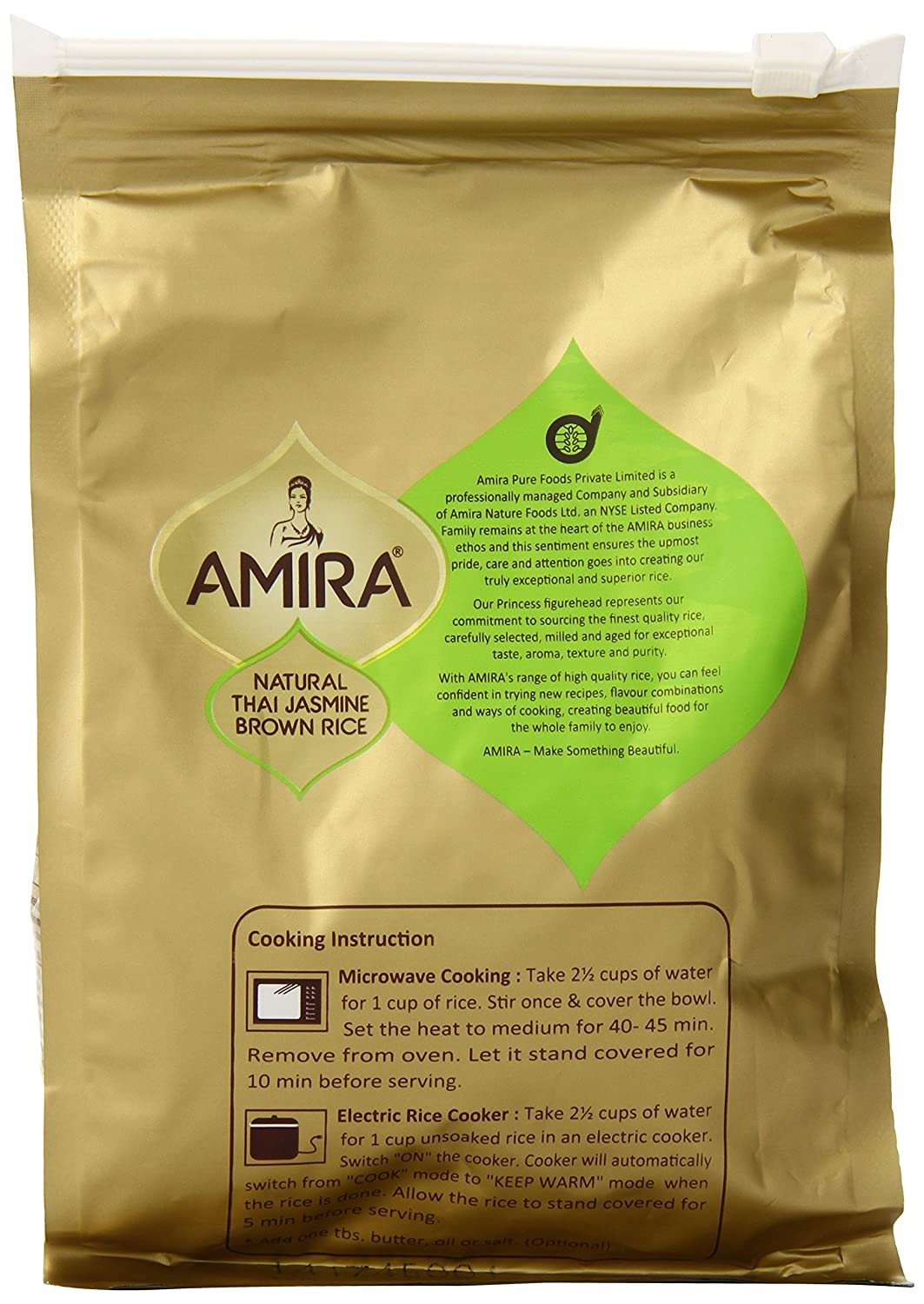 Amazon : Amira Brown Thai Jasmine Rice, 1 Pound : Grocery & Gourmet Food