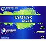 Tampax Compak - Tampons avec Applicateur en Plastique x 22 - Super - Lot de 3