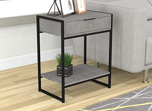Safdie Co. Safdie Furniture Top Line End Table, Grey Cement – 81045.Z.73