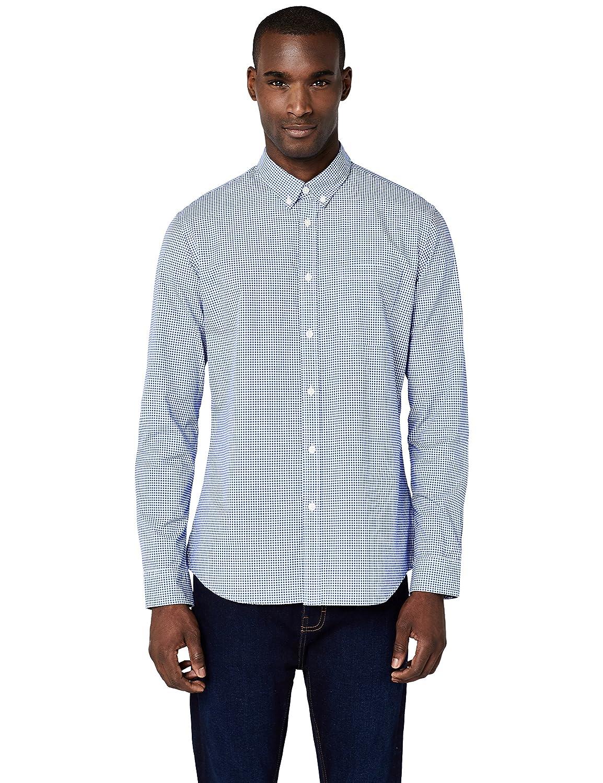20954421e6 Landfox Los Hombres Sueltan Rayas Cortas Manga Camiseta de impresión  Agujero Casual Blusa Tops YDS-0022003 · MERAKI Camisa Manga Larga de  Algodón Entallada ...