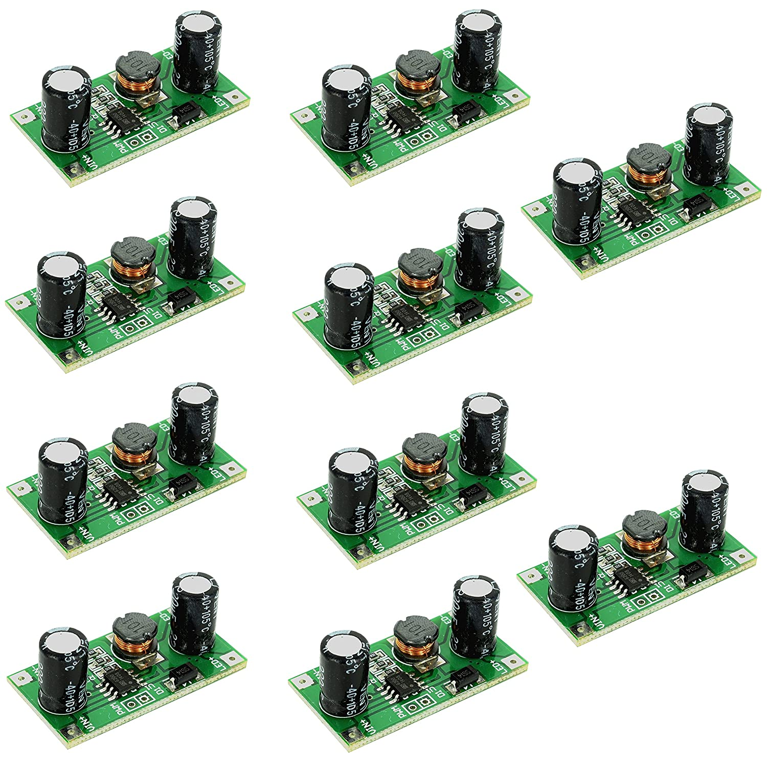 Optimus Electric 10pcs 1w Led Driver Module Pwm Light Rgb For High Power 350ma Leds V3 Using Pic12f629 Dimmer 5v To 35v Lighting Control From Electronics