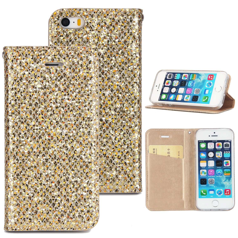 Kucosy Custodia protettiva per iPhone 6, Custodia per iPhone 6s, Glitter Custodia Per iPhone 6 6S Glitter Custodia Per iPhone 66S