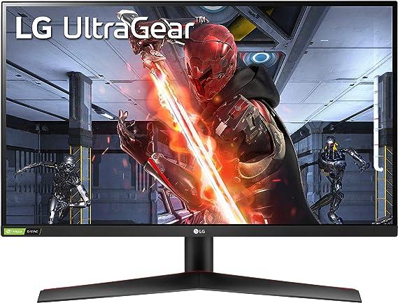 "LG 27GN800 UltraGear Gaming Monitor 27"" QuadHD IPS 1ms HDR 10, 2560x1440, G-Sync Compatible e AMD FreeSync Premium 144Hz, HDMI 2.0 (HDCP 2.2), Display Port 1.4, Porta AUX, Flicker Safe, Nero"