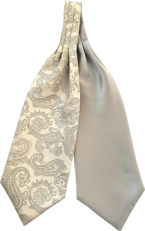 Men's Paisley Satin Self-Tie Ascot Cravats - Various Colours