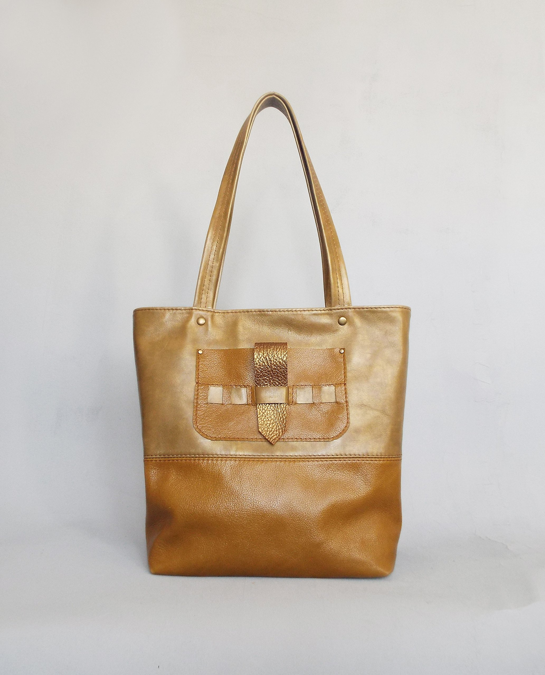 Leather tote bag. Ginger leather bag. Leather shoulder bag. Leather tote. Leather handbag. Tote bag leather.