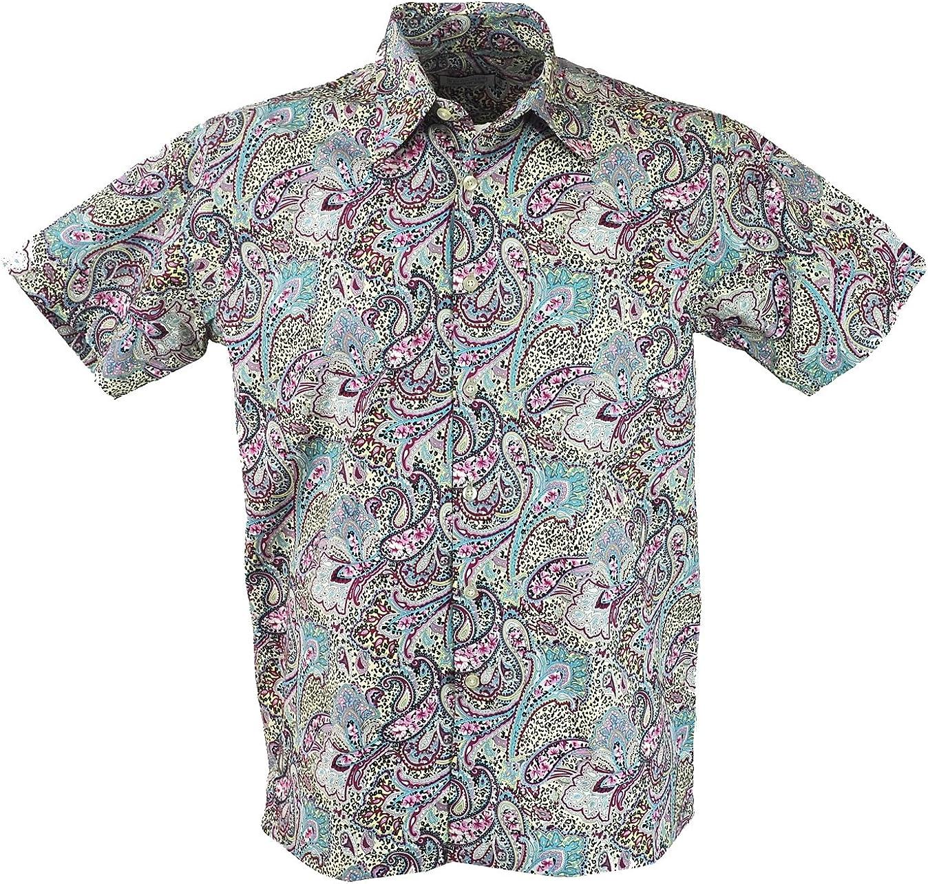 GURU-SHOP, Camisa Hawai, Camisa Hippie, Camisa, Paisley Azul ...