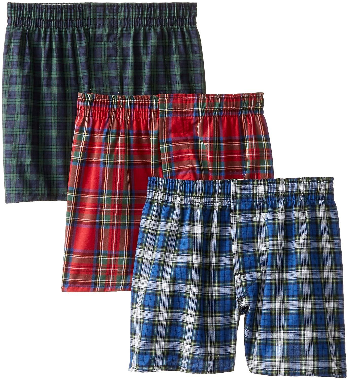 Hanes Boys' 3-Pack Classics Tartan Boxers Hanes underwear - Hanesbrands B845C3
