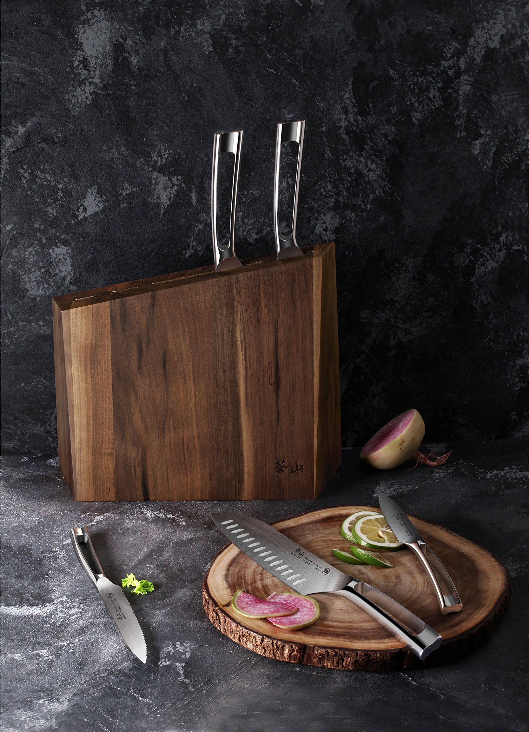 Cangshan N1 Series 61017 6-Piece German Steel Forged Knife Block Set, Walnut Block by Cangshan (Image #7)
