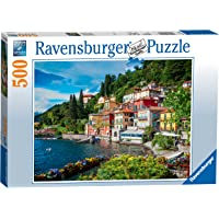 Ravensburger Lake Como, Italy Puzzle 500pc,Adult Puzzles