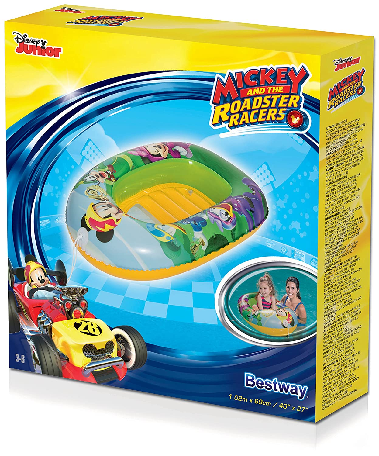 Barca Hinchable Infantil Bestway Mickey and the Roadster Racers