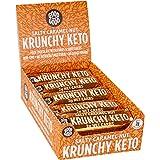 Krunchy Keto Bar - 2g Net Carb Salty Caramel Nut 1.23 oz (35 gr), 15 Count Box - No Added Sugar - Keto Friendly Snacks